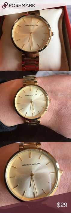 Kenneth Lane gold watch Kenneth Jay Lane gold watch. Some minor scratches on the face. Still in good condition comes with box. Needs a new battery Kenneth Jay Lane Accessories Watches