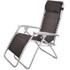 Reclining Garden Chair Lounger Seat Relax Outdoor Home Food Head Rest Sun Summer