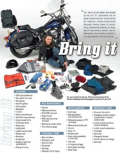 What to bring on a motorcycle rod trip