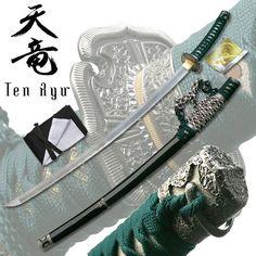 Ten Ryu –Hand Forged Damascus Steel Katana | True Swords