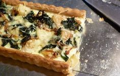 For Love of the Table:  Potato, Swiss Chard & Caramelized Onion Tart