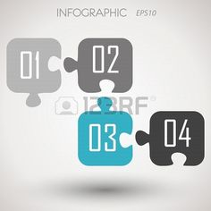 puzzle infographic numbers, infographic concept, Stock Photo - 20135826