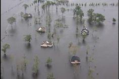Flood waters from Hurricane Floyd Washington NC Sept 1999