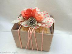 Beautiful handmade paper: A rose box