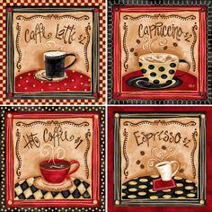 Kaffeebilder im Landhausstil - da hüpft mein Herz :-)