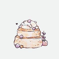 Cute Food Drawings, Cute Animal Drawings Kawaii, Cute Cartoon Drawings, Images Kawaii, Cute Images, Stickers Kawaii, Cute Stickers, Kawaii Doodles, Kawaii Art