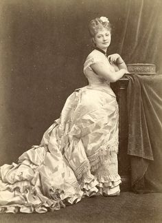 French beauty. C 1877
