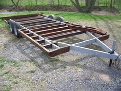 Photo by Ryan Yost Bug Out Trailer, Trailer Dolly, Car Hauler Trailer, Work Trailer, Trailer Plans, Trailer Build, Dump Trailers, Tiny Trailers, Tiny House Trailer
