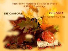 KIS CSOPORT Szentlőrinci Kistérségi Bölcsőde és Óvoda Bükkösdi Tagóvodája SZEPTEMBER 2013/2014.