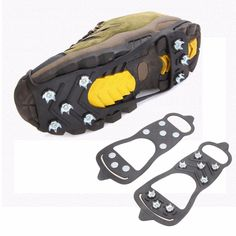 1 Pair Professional Climbing Ice Crampon 8 Studs Anti-Skid Ice Snow Camping Walking Shoes Spike Grip Winter Outdoor Equipment  Price: 4.21 USD