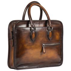 Shop the Un Jour Mini Leather Briefcase by Berluti. Browse the entire Briefcases collection and discover other collections at Berluti. Leather Office Bags, Leather Laptop Bag, Leather Briefcase, Leather Suitcase, Laptop Messenger Bags, Briefcase For Men, Leather Bags Handmade, Fashion Bags, Leather Men