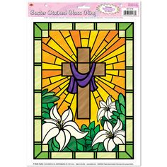 Use as pattern for faux stained glass