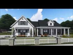 Plan Flexible Modern Farmhouse with Split Bedrooms Best House Plans, Country House Plans, Dream House Plans, Craftsman Exterior, Craftsman House Plans, Farmhouse Floor Plans, Farmhouse Flooring, House Plans With Photos, Architectural Design House Plans