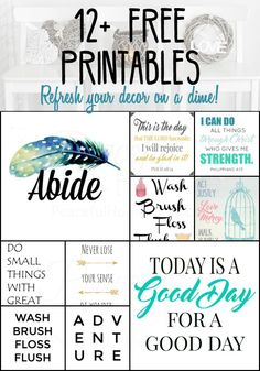 Diy wood signs quotes bible verses free printable ideas for 2019 Framed Words, Framed Quotes, Wall Art Quotes, Sign Quotes, Bible Quotes, Bible Verses, Printable Designs, Printable Quotes, Printable Wall Art