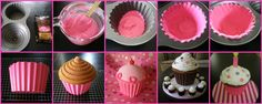 Giant Cupcake Decorating Ideas   Crafty Chic Mommy: MMMM...a GIANT cUpCaKe...in time for VALENTINES!!