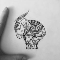 Elephant! Available to tattoo email bethanielwilson@gmail.com to make an…