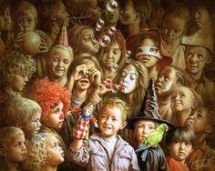 O Tapete Vermelho da Imagem: Images' Red Carpet: As crianças brincam ao Carnaval: 4 pinturas de Poe...