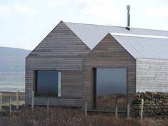 Haus aus Holz Villa Satteldach-borreraig dualchas-architects Schottland Architektur
