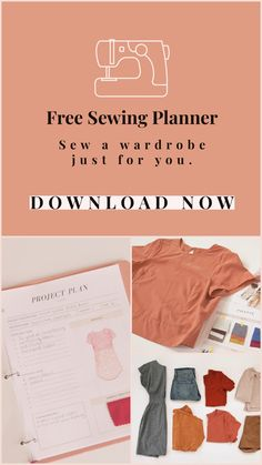 FREE! Design and create your own wardrobe using the Seamwork sewing planner. Sewing Basics, Sewing Hacks, Sewing Tutorials, Sewing Patterns Free, Free Sewing, Clothing Patterns, Diy Clothing, Sewing Clothes, Fashion Sewing