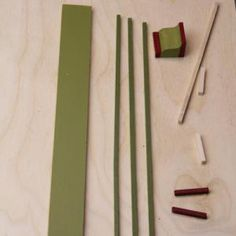 Use Stripwood To Make Flat Columns For Dollhouse Shops and Model Buildings: Prepare the Parts for Miniature Columns