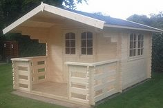AST4-44 Garden Log Cabin by Astwood Log cabins, via Flickr