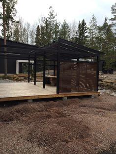 Outdoor Spaces, Outdoor Living, House In The Woods, Future House, Bungalow, Pergola, Shed, Deck, Cottage