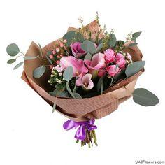 Bouquet «Flower Scherzo» Send Flowers, Fresh Flowers, Flower Delivery, Serving Bowls, Bouquet, Basket, Tableware, Home Decor, Mixing Bowls