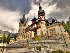 Sinaia, Romania: Peleş Castle is located in an idyllic setting in the Carpathian Mountains of Romania,