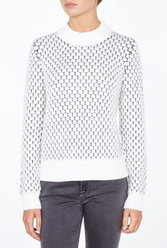 White Bobble Stitch Jumper By Paul Smith Black