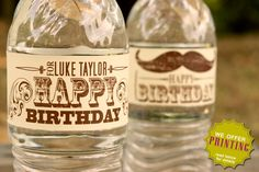 Water Bottle Labels  Vintage Little Mister by PixelSeeds on Etsy, $7.00