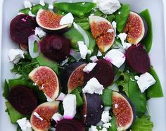 Fig, Beetroot & Feta Salad with a Honey & Mustard Dressing. Salads just don't get better than this.