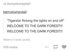 WELCOME TO THE DARK FOREST!!!>>> WE HAVE COOKIES BITCHES