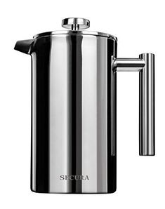 123901fa53d Stainless Steel French Press Coffee Maker 18/10 Bonus Stainless Steel  Screen /1L #