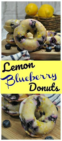 35 Ideas For Baking Donuts Recipe Blueberry Donut Recipes, Keto Recipes, Dessert Recipes, Best Donut Recipe, Pastry Recipes, Dinner Recipes, Quick Donuts Recipe, Lemon Recipes Easy, Blueberry Recipes Easy