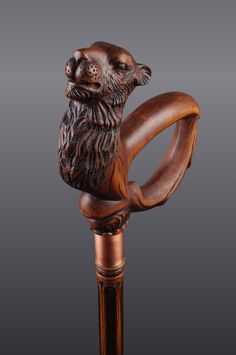 Unique Handmade Hand Carved Wood Walking Stick Cane by cbbka