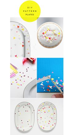 DIY Pattern Plate. #Home #Decor #Design#Decorating | VisitWISHCLOUDS.COM for more...