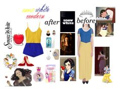 """""""poisoned apple?its snow white"""" by jellianebuizon ❤ liked on Polyvore featuring Milly, Christian Louboutin, Disney, Topshop, 1937, Van Cleef & Arpels and RED Valentino"""