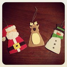 Adornos navideños carton corrugado