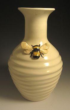 Bee Vase: Lisa Scroggins: Ceramic Vase - Artful Home