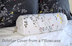 Bolster or neckroll pillow removable cover from a pillowcase