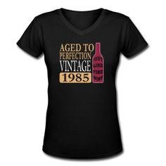 Vintage 1985, 30th Birthday Women's V-Neck T-Shirts ~ 617