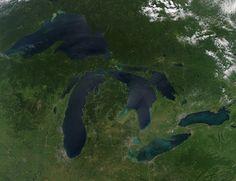 Take a photo tour of the five Great Lakes: Lake Erie, Lake Superior, Lake Huron, Lake Michigan, and Lake Ontario. Michigan Wolverines, State Of Michigan, Lake Michigan, Wisconsin, Michigan Facts, Jackson Michigan, Detroit Michigan, Northern Michigan, Grands Lacs