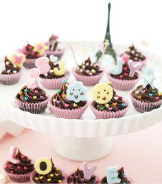 [바보사랑] 사랑스럽고 귀엽게 마음을 전해요 /초콜릿/초콜렛/발렌타인데이/남자친구/여자친구/사랑/고백/DIY/컵케이크/귀여움/일러스트/디자인소품/디자인문구/선물/달콤/핑크