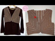Crochet Circle Vest, Crochet Shrug Pattern Free, Crochet Circles, Crochet Stitches, Crochet Coat, Crochet Jacket, Crochet Cardigan, Crochet Clothes, Tricot