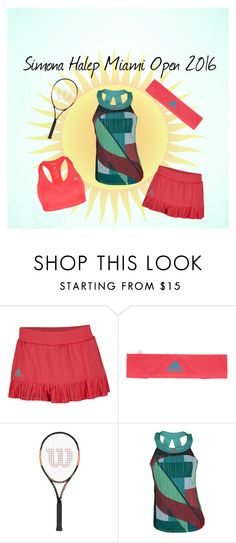 """""""Miami Open 2016 Simona Halep"""" by tennisexpress on Polyvore featuring tennis, athleticwear, tennisfashion, MiamiOpen and samonahalep"""