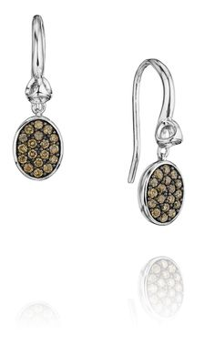 Lolita Earrings with Pave Champagne Diamonds
