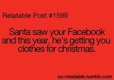 Funny Santa Quotes for Facebook