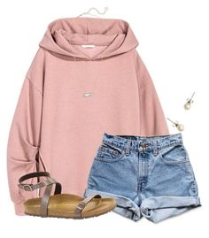 A fashion look from January 2017 featuring oversized hoodies, cut-off shorts and open toe shoes. Browse and shop related looks. Cute Comfy Outfits, Cute Summer Outfits, Fall Outfits, Teen Fashion Outfits, Outfits For Teens, Trendy Outfits, College Outfits, Polyvore Outfits, Everyday Outfits