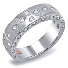 Men's diamond-encrusted wedding band by Demarco. It has 0.52 ct. t.w. diamonds, $7,722 in platinum and $5,720 in 18k gold.  http://www.diamondarticles.com/james-allen-reviews/