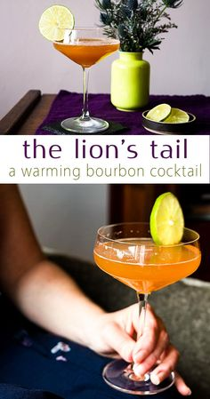 The Lion's Tail: A bourbon based craft cocktail with the warmth of allspice and the brightness of lime. Great for mid-winter holidays and fighting winter gloom. via @midlifecroissnt